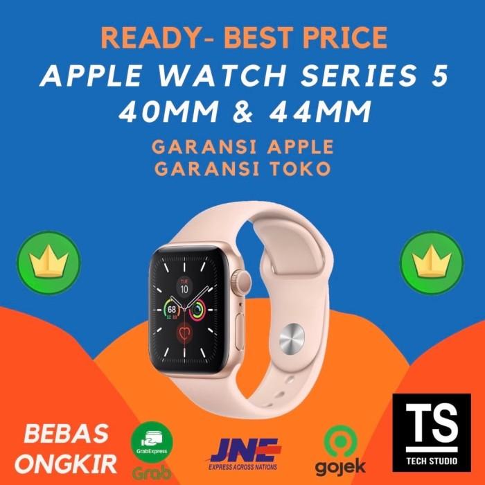 Foto Produk Apple Watch Series 5 40mm 44mm 40 44 mm Gold with Pink Sand Sport Band - GRS APPLE INTER, 40MM dari Tech Studio Indonesia