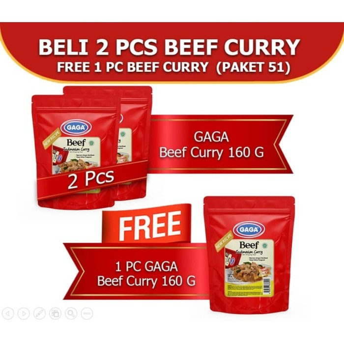 Foto Produk Beef Curry 160g Beli 2 pcs GRATIS 1 pc (GG51) dari Gaga Official Store