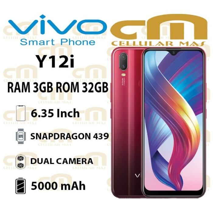 Foto Produk Vivo Y12i 3/32 RAM 3GB ROM 32GB GARANSI RESMI VIVO - Merah dari Cellular Mas