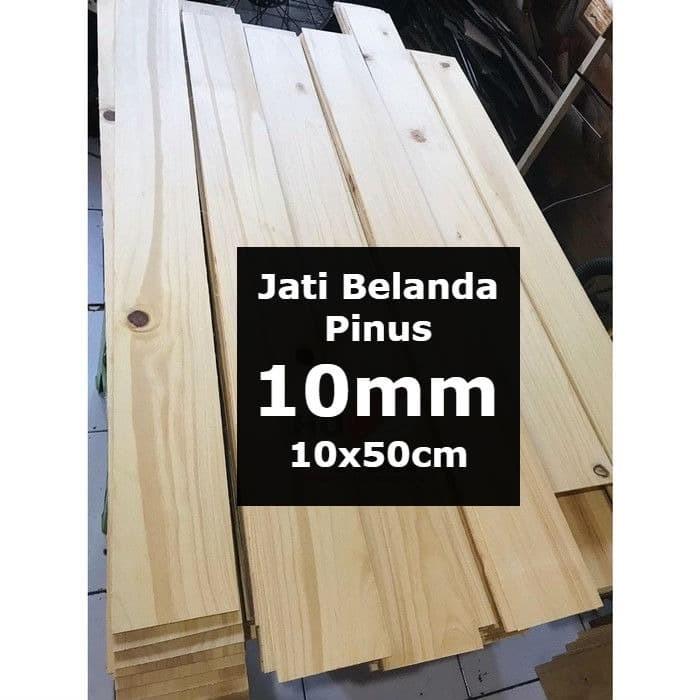 Foto Produk Kayu PINUS 10mm Sheet 10cmx50cm Jati Belanda dari belimasbro(dot)com