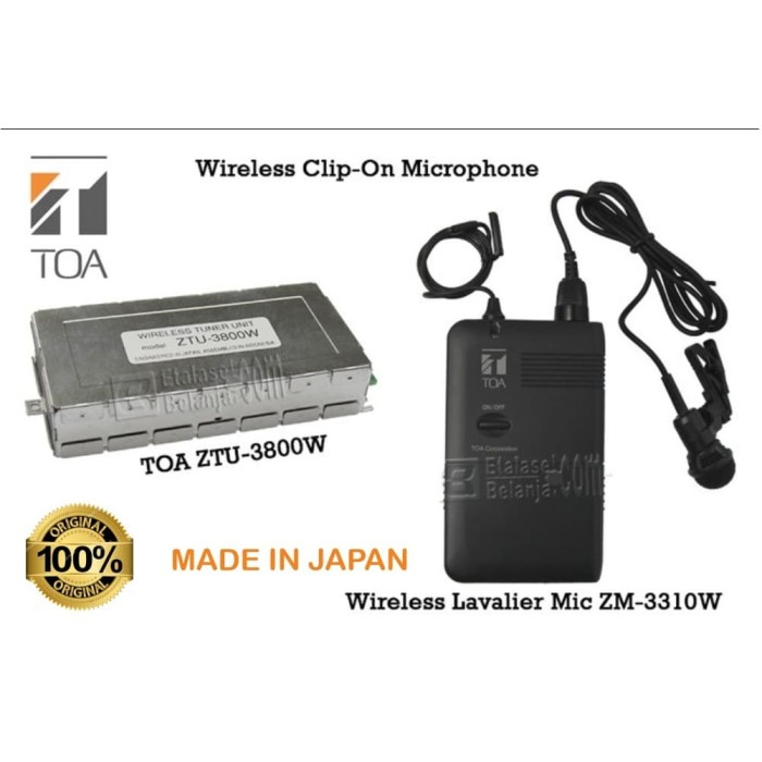 Foto Produk Microphone mik mic wireless jepit clip-on TOA ZW-SERIES - TOA ZM-3310W dari EtalaseBelanja