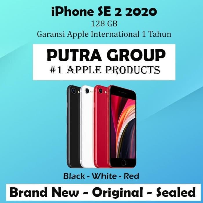 Foto Produk (NEW) iPhone 128GB SE 2 2020 Black - White Red Original Apple 128 SE2 - Red dari Putra Group