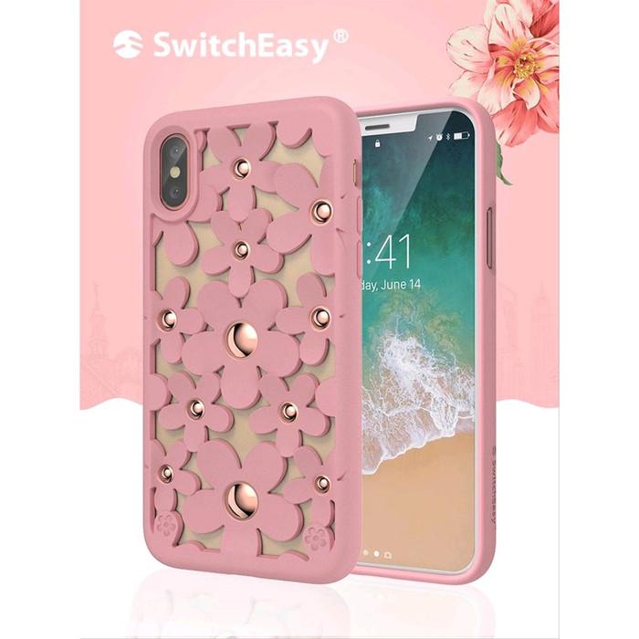 Foto Produk Switcheasy iPhone XS Max / XS / X / XR Case Fleur - Pink, iPhone XS Max dari Spigen Indonesia