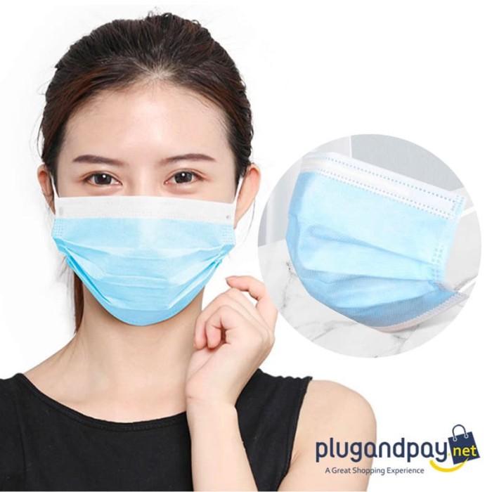 Foto Produk Masker Bedah Medis Filter Udara Anti Polusi Earloop dari plugandpay