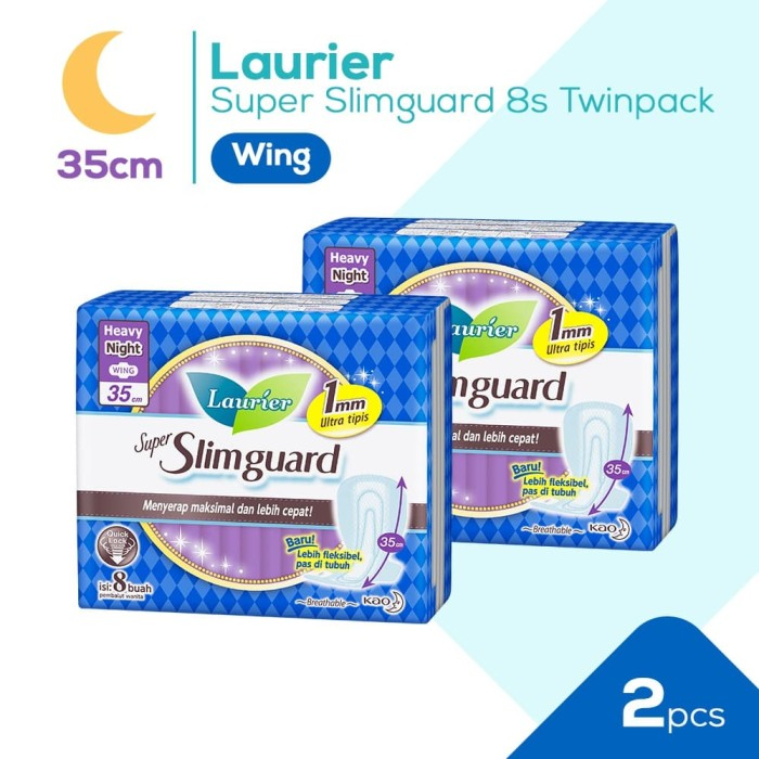 Foto Produk Laurier Super Slimguard Night 35cm 8S Twinpack dari KAO Official Store