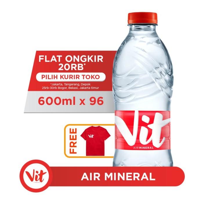 Foto Produk VIT Air Mineral 600ml (96 botol) FREE Eksklusif T-Shirt dari AQUA Official Store