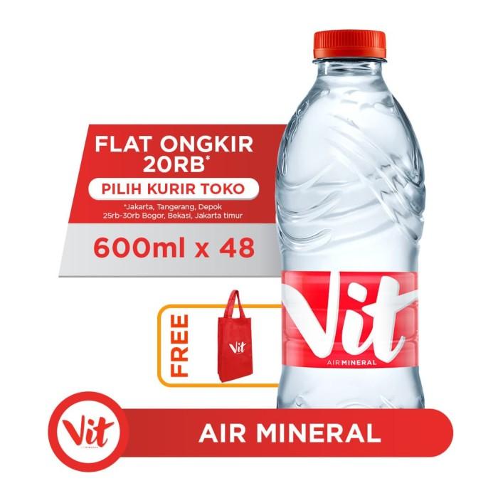Foto Produk VIT Air Mineral 600ml (48 botol) FREE Shopping Bag dari AQUA Official Store