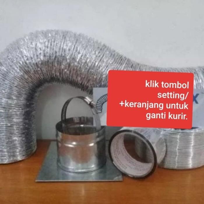Foto Produk Paket alumunium flexible duct 5 Meter 4 inch dari E-HomeSolutions