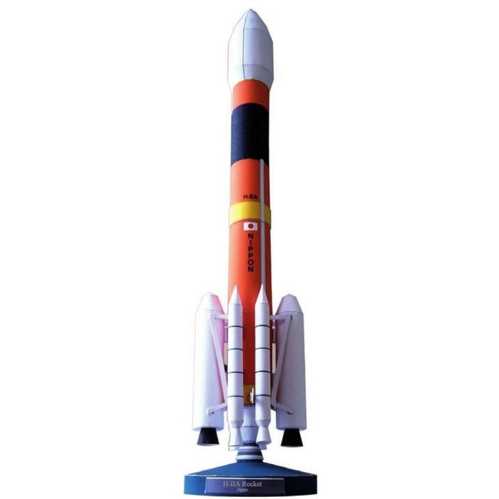 Foto Produk DIY Papercraft Japan H-2A Rocket Space 3D dari marushopedia