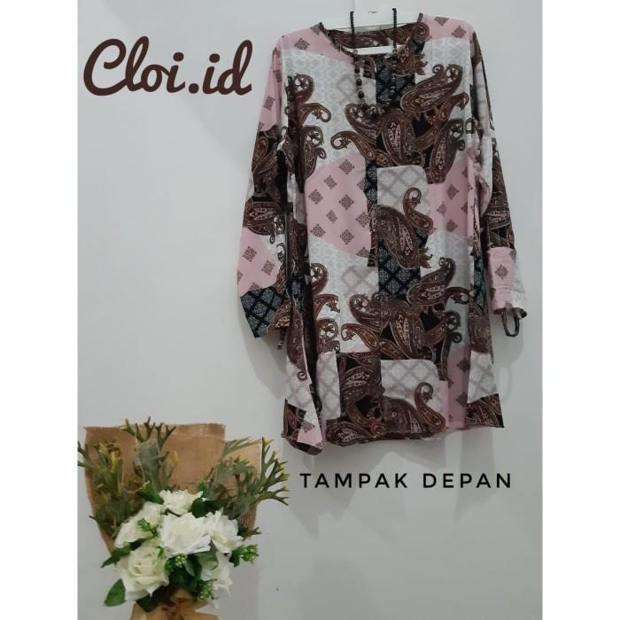 Foto Produk Baju Atasan Batik Rustic Muslim By Cloi.id dari ShockingShop_