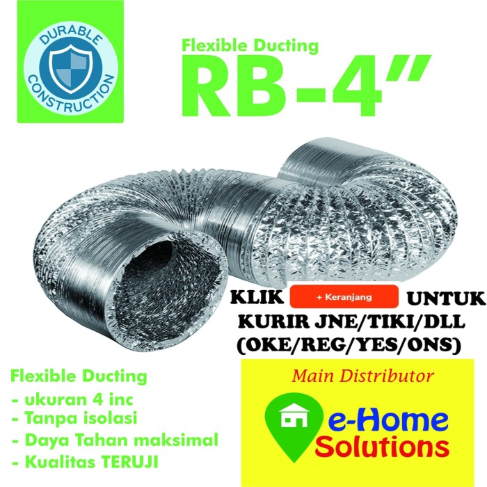 Foto Produk Flexible duct 4 inch ( promo baru ) dari E-HomeSolutions