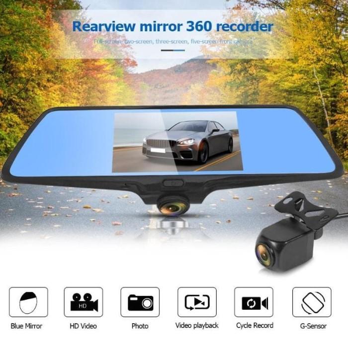 Foto Produk DVR CAMERA SPION TENGAH CCTV MOBIL 9.35 inch dual camera dari KRESNA CAR ACCESORIES