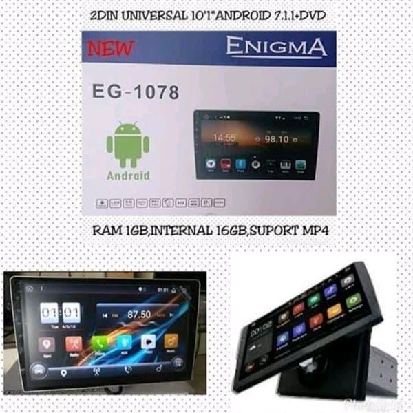 Foto Produk ENIGMA EG-1078 HEAD UNIT 2DIN ANDROID 10 INCH DVD dari KRESNA CAR ACCESORIES