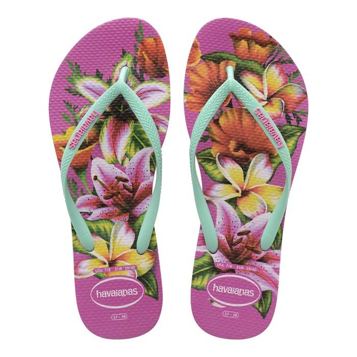 Foto Produk Havaianas Slim Floral Fc 0064-Hollywood Rose - Sandal Wanita - Merah Muda, 39-40 dari Havaianas Official Shop