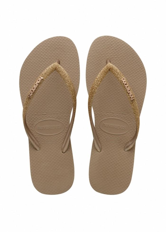 Foto Produk Havaianas Slim Glitter Fc 3581-Rose Gold - Sandal Wanita - Perak Emas, 37-38 dari Havaianas Official Shop
