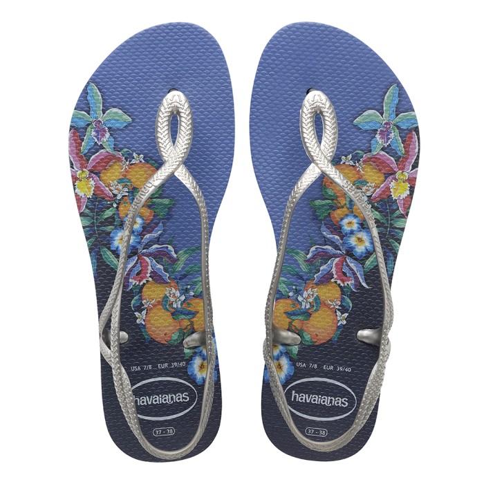 Foto Produk Havaianas Luna Print Cf 0057-Blue - Sandal Wanita - Biru, 37-38 dari Havaianas Official Shop