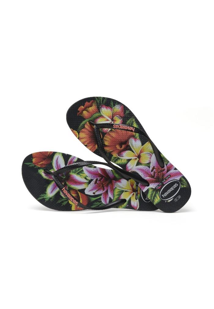 Foto Produk Havaianas Slim Floral Fc 1069-Black - Sandal Wanita - Hitam, 41-42 dari Havaianas Official Shop