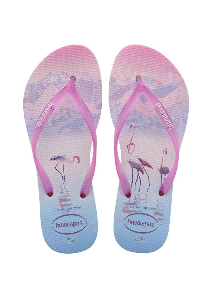 Foto Produk Havaianas Slim Paisage Fc 8721-Crystal - Sandal Wanita - Merah Muda, 39-40 dari Havaianas Official Shop