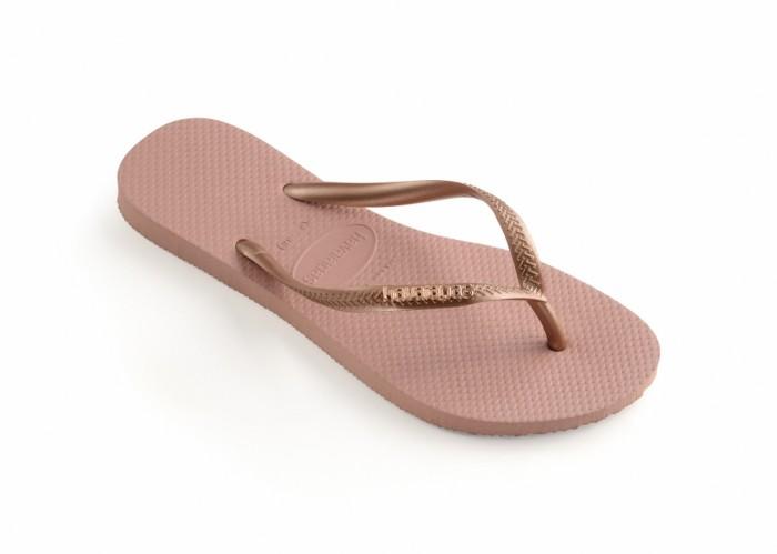 Foto Produk Havaianas Slim Logo Metallic 3655-Rose Nude - Sandal Wanita - Merah Muda, 41-42 dari Havaianas Official Shop