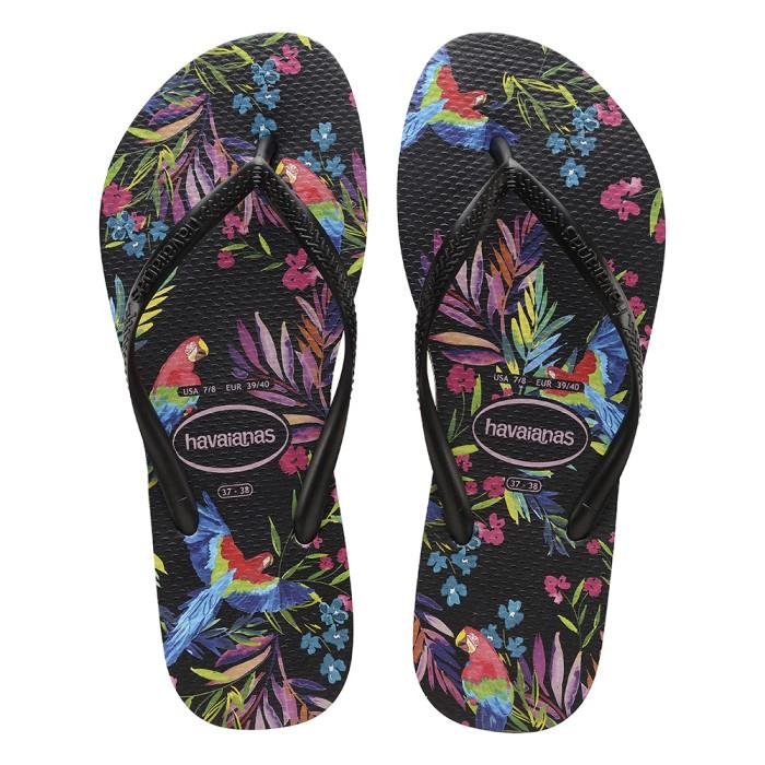 Foto Produk Havaianas Sl Tropical Floral 1069-Black - Sandal Wanita - Hitam, 33-34 dari Havaianas Official Shop
