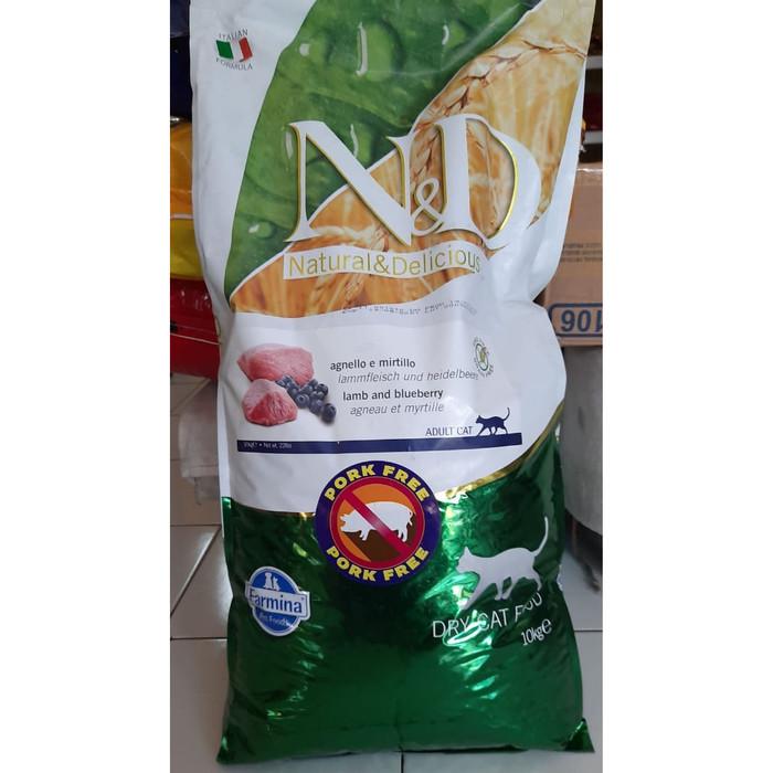 Foto Produk Makanan Kucing ND Adult Cat Lamb and Blueberry Grain & Pork Free 10 kg dari Petshop AW