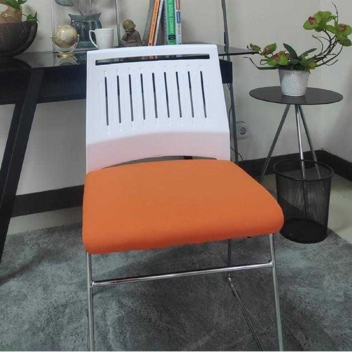 Jual Kursi Nyaman Kursi Tamu Kursi Cafe Kursi Minimalis White Orange Kota Bandung Wisss Tokopedia