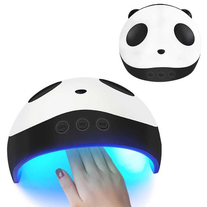 Foto Produk Alat Pengering Kutek Kuku UV LED Panda Design - Nail Dryer UV Lamp - Hitam dari conngallery