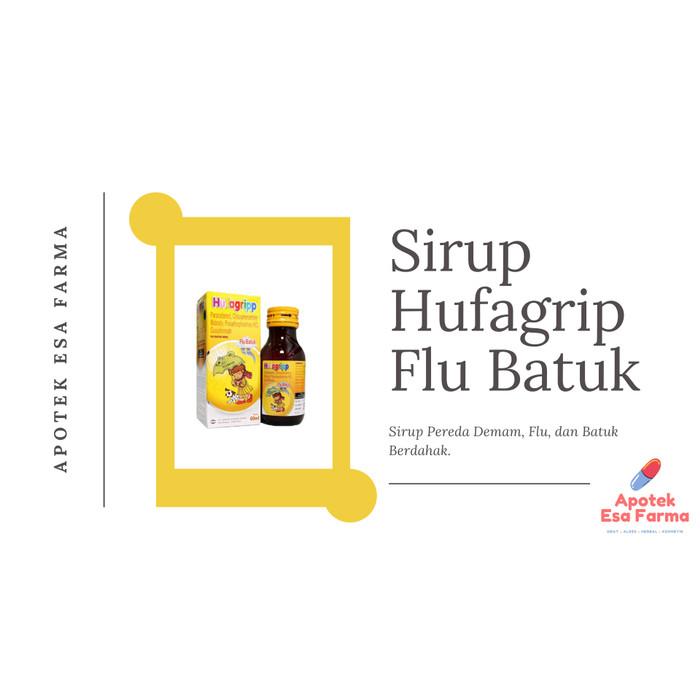 Jual Sirup Hufagrip Kuning Flu Batuk Untuk Batuk Berdahak Dan Demam Kota Pekanbaru Apotek Esa Farma Tokopedia