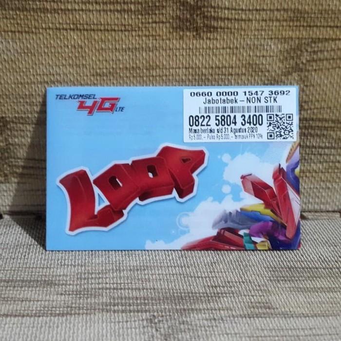 Foto Produk Nomor Cantik LOOP 5804 3400 Telkomsel 4G LTE Exp 31 Agustus 2020 dari idStoreplus