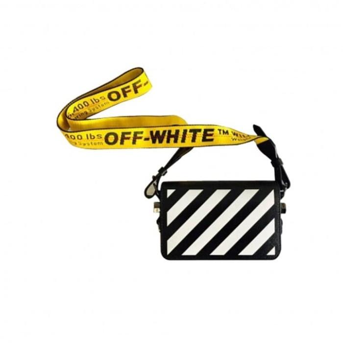 Foto Produk OFF WHITE SS20 DIAG MINI FLAP BAG BLACK/WHITE dari KXStart!