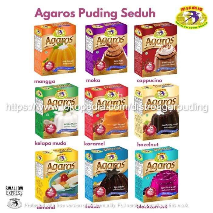 Foto Produk Paket Hemat AGAROS isi 5 Kotak - Pudding Seduh Instant Premium Halal dari Distro Agar Puding Indo