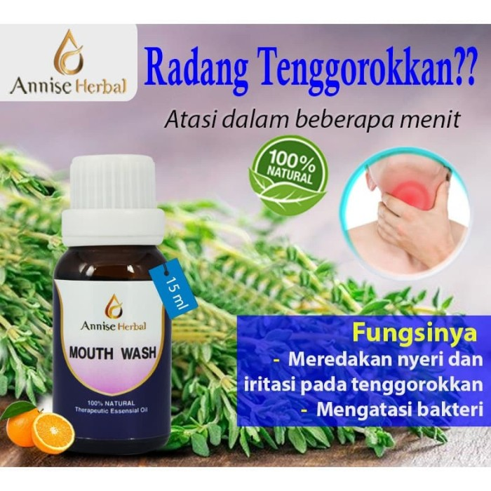 Foto Produk Obat Radang, Radang tenggorokan, Obat Kumur, Mouth Wash 15ml dari anniseherbal