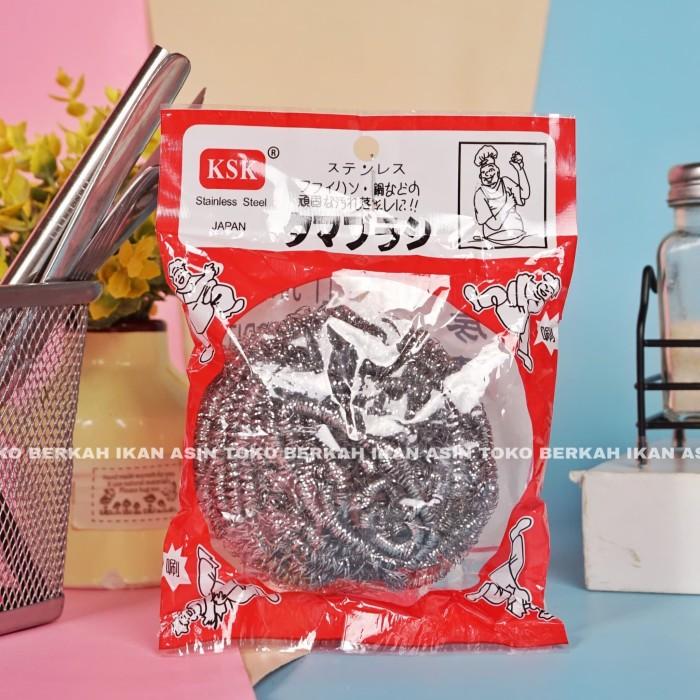 Foto Produk Sikat Cuci Piring / Sabut Stainless Import Jepang High Quality dari Toko BERKAH Ikan Asin