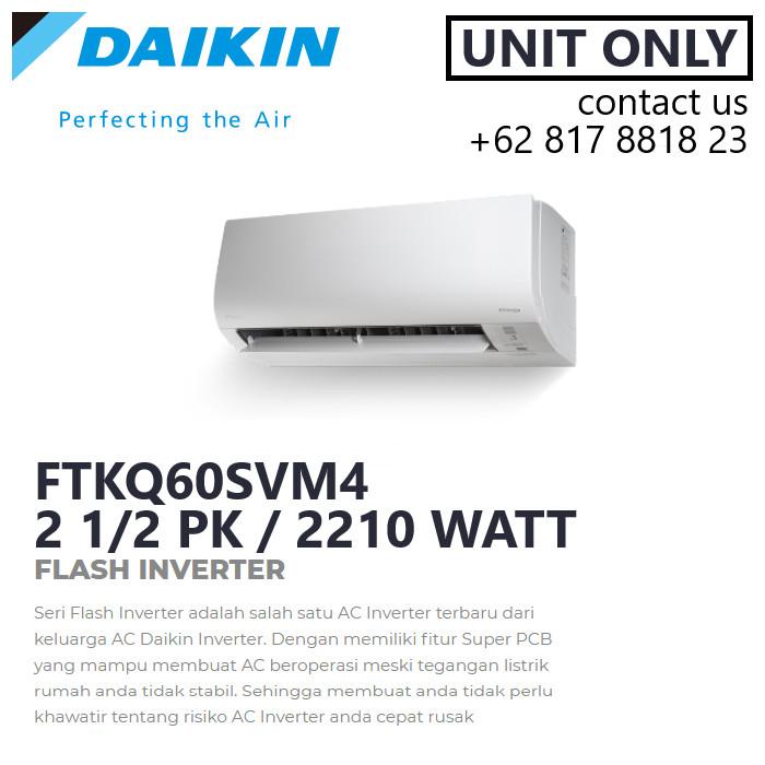 Jual Daikin Ftkq60svm4 Ac Split Flash Inverter 2 1  2 Pk 2