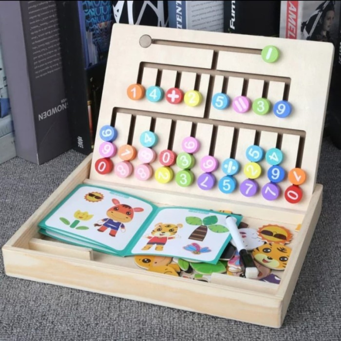 Foto Produk Mainan Puzzle kayu Edukasi Thinking n Drawing Board 2in 1 dari AUTO KID II