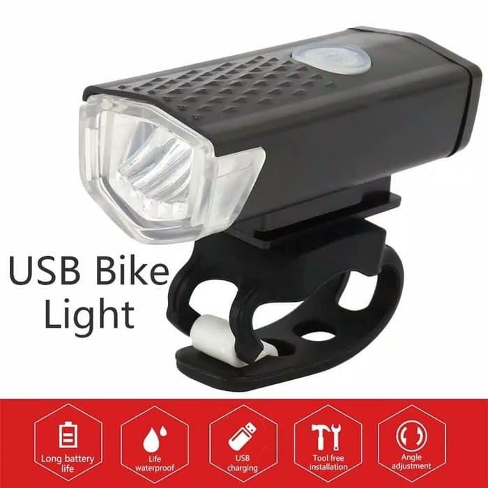 Foto Produk Lampu Depan Sepeda Rechargeable LED Battery Charge LAMPU SEPEDA dari TheTrip Buff