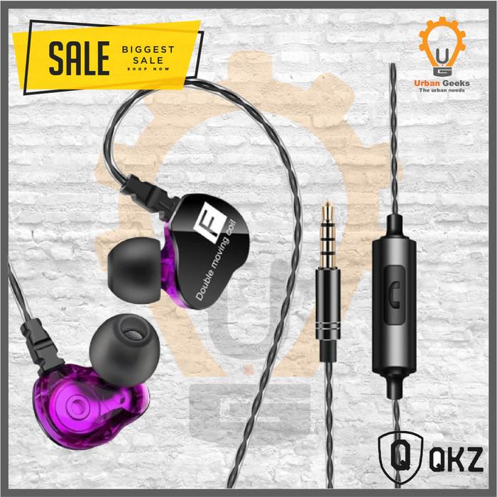 Foto Produk Quality Knowledge Zenith QKZ CK9 In Ear Earphone with Microphone al KZ - Ungu dari Urban Geeks