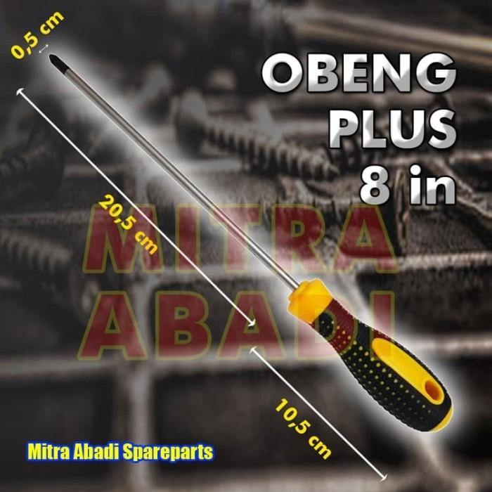 Foto Produk Obeng Plus atau Kembang / Screwdriver Gagang Karet 21 cm Baut Besar dari Mitra Abadi Spareparts