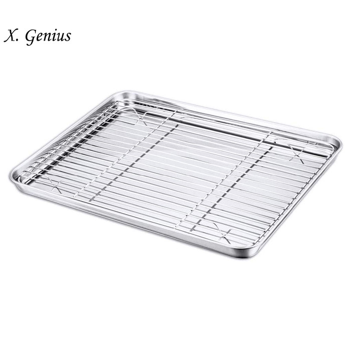 Jual Baking Sheet And Cooling Rack Set Stainless Steel Cookie 16 Inch Jakarta Barat The Gold Store Tokopedia