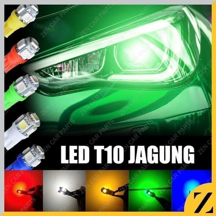Foto Produk Led T10 Jagung Lampu Bohlam Sein Senja Plat Amber 5 titik Mobil Motor - Biru dari Zen Car Parts