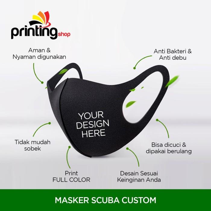 Jual Masker Scuba Custom Logo / Premium / Custom Motif ...