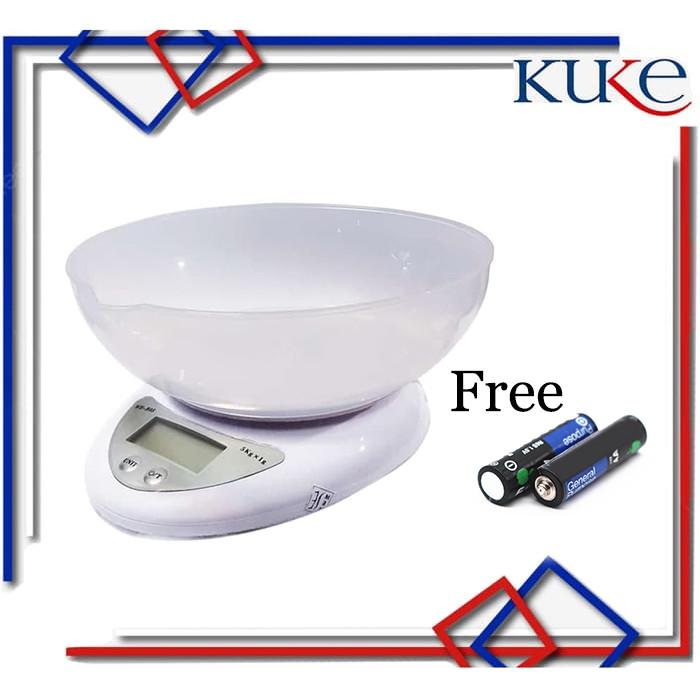 Foto Produk TIMBANGAN DIGITAL MANGKOK / Timbangan Kue Digital Electronic 5 kg B05 - Timbangan B05 dari KUKE