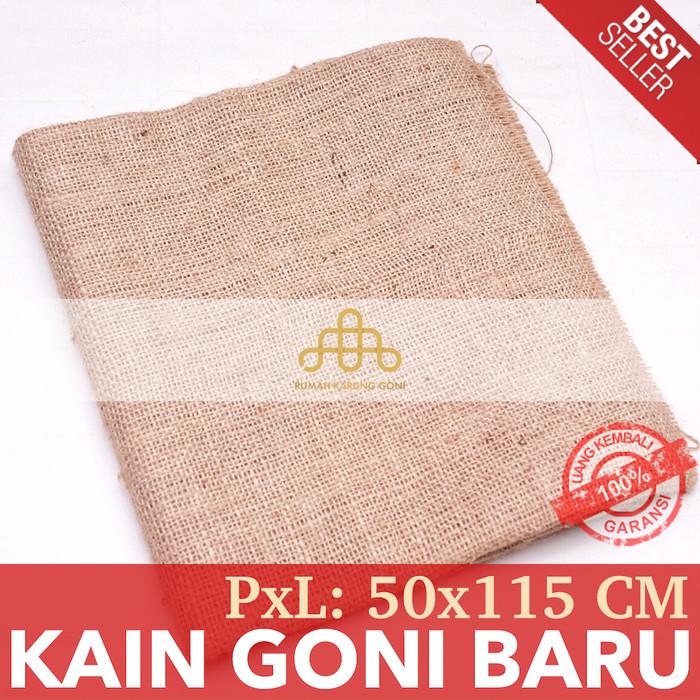 Foto Produk Karung Goni Lembaran 50cm - Kain Goni Baru - Burlap Jute Murah dari Rumah Karung Goni