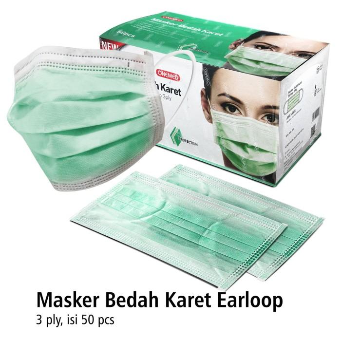 Foto Produk Masker Karet Hijau OneMed box 50pcs dari Onemed.Jakarta