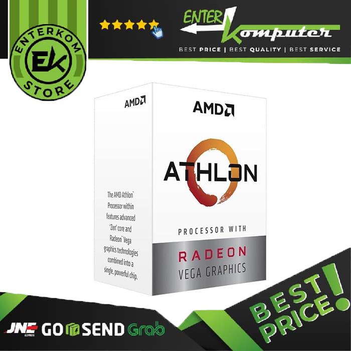 Foto Produk AMD Athlon 3000G (Radeon Vega 3) 3.5Ghz AM4 [BOX] - 2 Core dari Enter Komputer Official