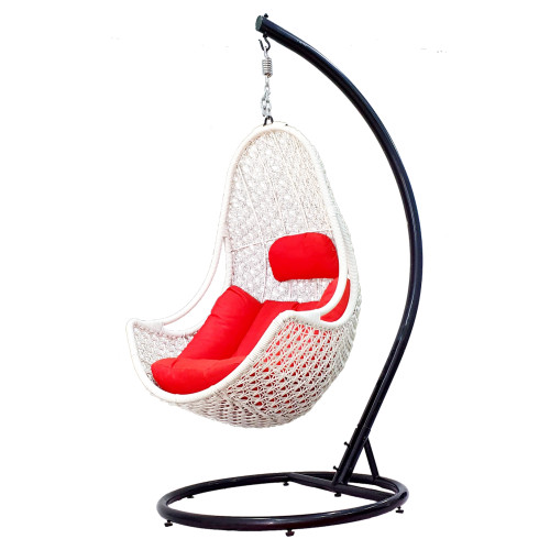 Jual Kursi Ayunan Rotan Black Frame Sofa Red Hanging Chair Jakarta Barat Furnil Tokopedia