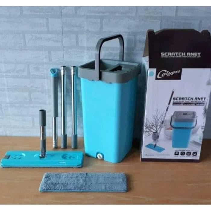 Foto Produk Alat Pel Lantai Praktis / Ultra Mop / Flat Mop Alat Pel Datar dari AnerStore