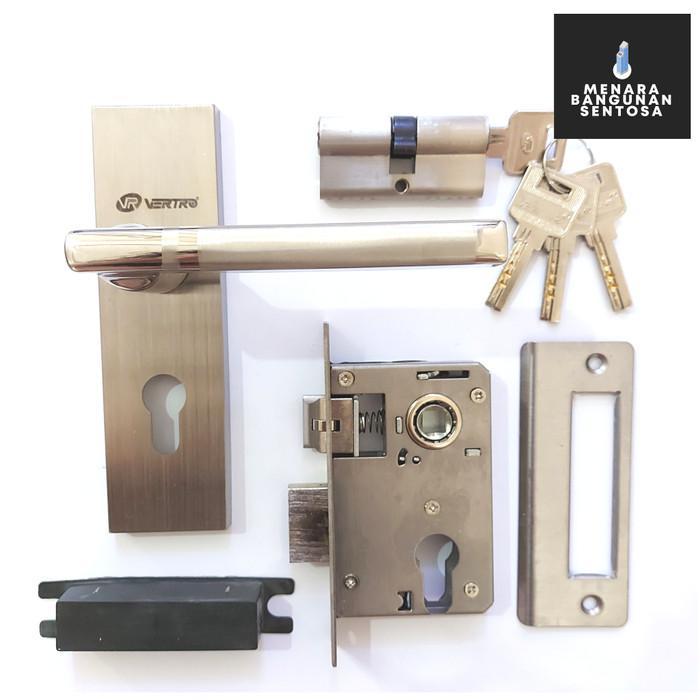 Jual Kunci Pintu Kecil Vertro 224S Full Stainless - Handle ...