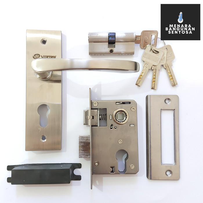 Jual Kunci Pintu Kecil Vertro 225S Full Stainless - Handle ...