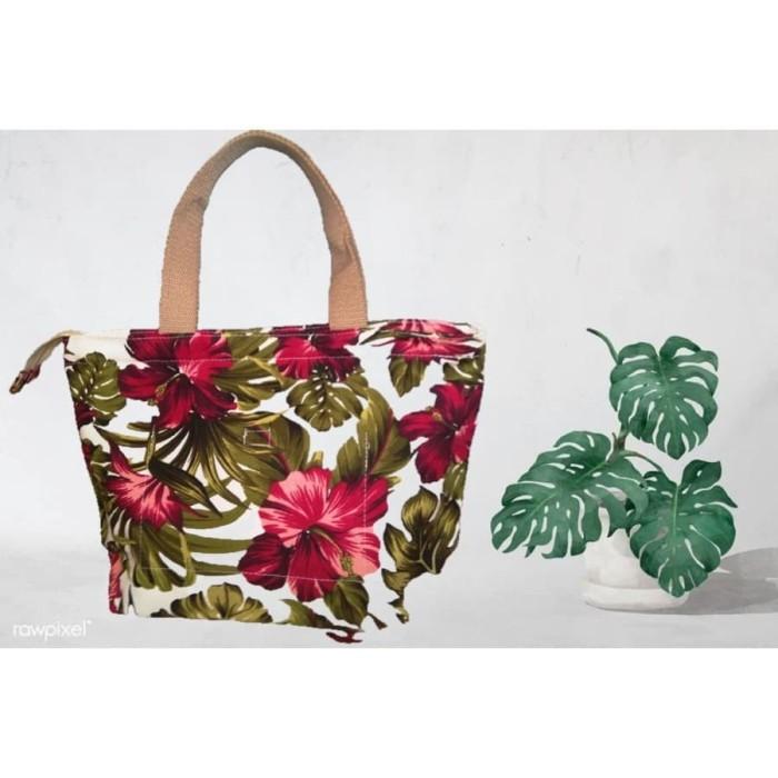 Jual Hand Bag Kanvas Premium Jumbo Motif Bunga Sepatu Merah Kab Bantul Orbioora Tokopedia